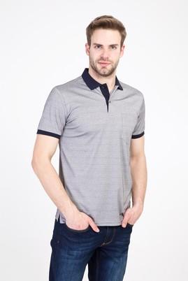 Erkek Giyim - ORTA GRİ 3X Beden Polo Yaka Regular Fit Merserize Tişört