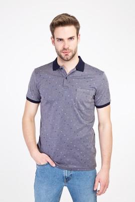 Erkek Giyim - ORTA LACİVERT XL Beden Polo Yaka Regular Fit Merserize Tişört