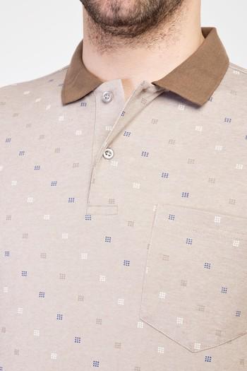 Erkek Giyim - Polo Yaka Regular Fit Merserize Tişört