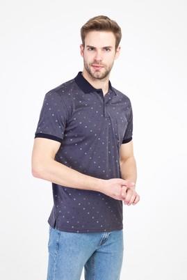 Erkek Giyim - KOYU ANTRASİT XXL Beden Polo Yaka Regular Fit Merserize Tişört