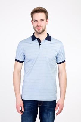 Erkek Giyim - GÖK MAVİSİ L Beden Polo Yaka Regular Fit Merserize Tişört