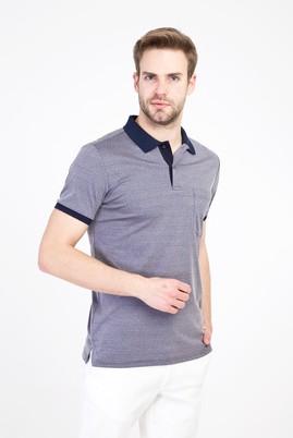 Erkek Giyim - ORTA LACİVERT L Beden Polo Yaka Regular Fit Merserize Tişört