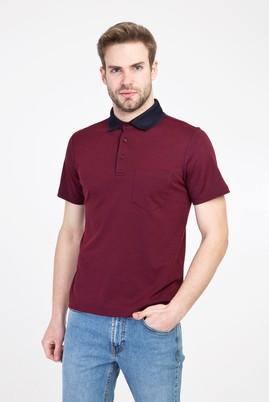 Erkek Giyim - KOYU BORDO 3X Beden Polo Yaka Regular Fit Tişört