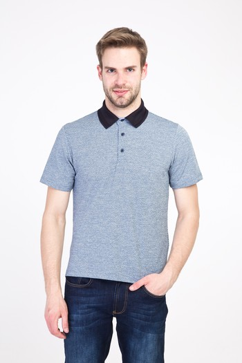 Polo Yaka Regular Fit Desenli Tişört