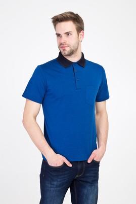 Erkek Giyim - SAKS MAVİ XXL Beden Polo Yaka Regular Fit Tişört