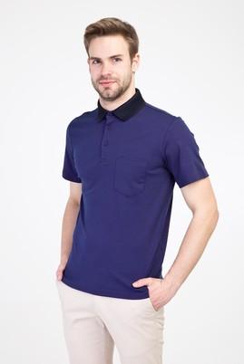 Erkek Giyim - MOR 3X Beden Polo Yaka Regular Fit Tişört