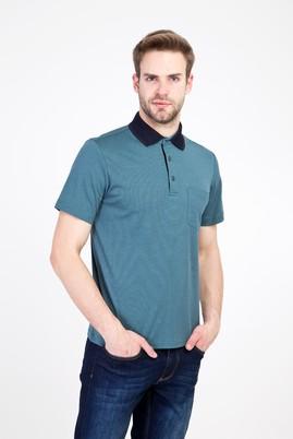Erkek Giyim - KOYU YEŞİL 3X Beden Polo Yaka Regular Fit Tişört