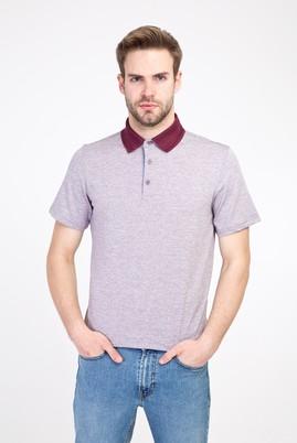 Erkek Giyim - MOR XXL Beden Polo Yaka Regular Fit Desenli Tişört
