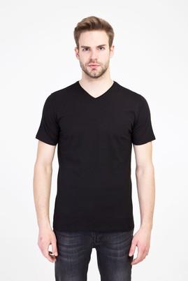 Erkek Giyim - SİYAH M Beden V Yaka Slim Fit Tişört