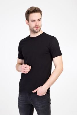 Erkek Giyim - SİYAH L Beden Bisiklet Yaka Slim Fit Tişört