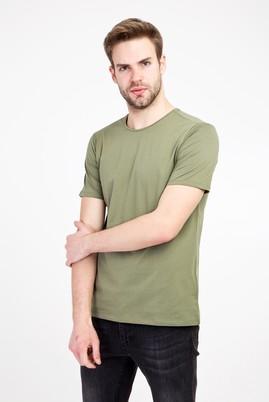 Erkek Giyim - ORMAN YEŞİLİ L Beden Bisiklet Yaka Slim Fit Tişört