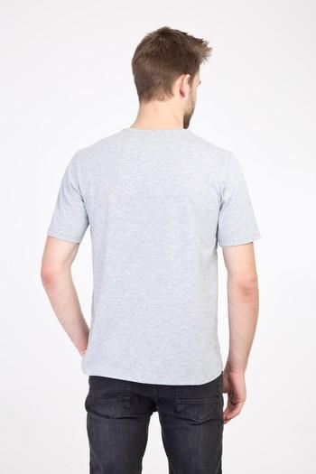 Erkek Giyim - Bisiklet Yaka Regular Fit Baskılı Tişört