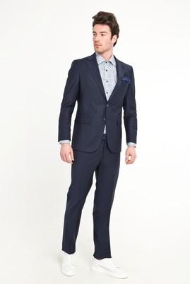 Erkek Giyim - SİYAH LACİVERT 48 Beden Klasik Yünlü Takım Elbise