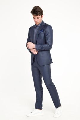 Erkek Giyim - LACİVERT 48 Beden Klasik Desenli Takım Elbise