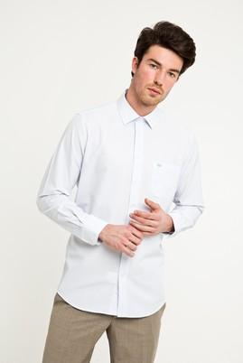 Erkek Giyim - AÇIK MAVİ L Beden Uzun Kol Klasik Desenli Gömlek