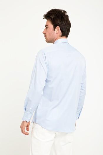 Erkek Giyim - Uzun Kol Klasik Çizgili Gömlek