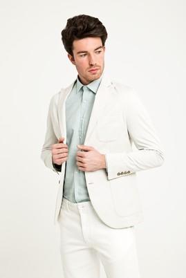 Erkek Giyim - Krem 56 Beden Slim Fit Ceket
