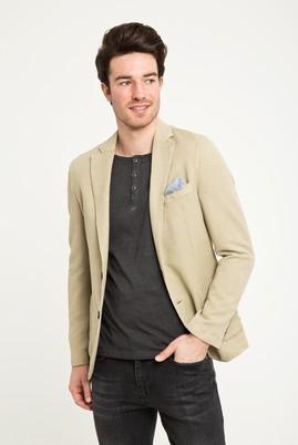 Erkek Giyim - Bej 48 Beden Kuşgözü Ceket