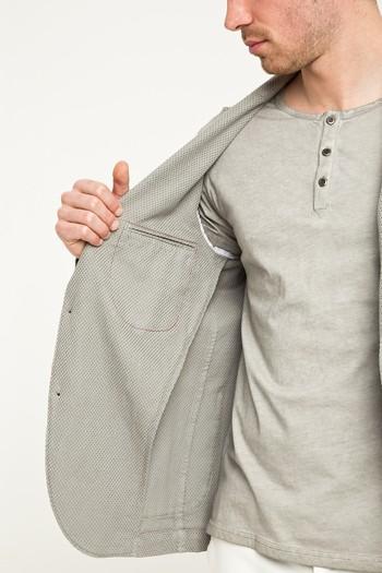 Erkek Giyim - Desenli Spor Yıkamalı Ceket