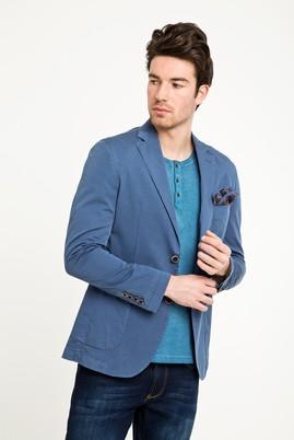 Erkek Giyim - KOYU MAVİ 48 Beden Yıkamalı Spor Ceket