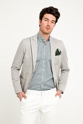 Erkek Giyim - Açık Gri 48 Beden Slim Fit Ceket