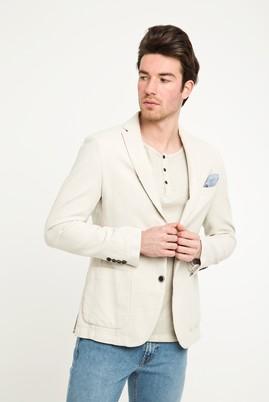 Erkek Giyim - KUM 48 Beden Desenli Spor Yıkamalı Ceket
