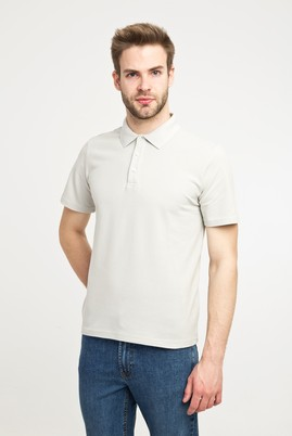 Erkek Giyim - Kum L Beden Polo Yaka Slim Fit Tişört