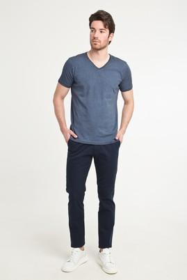 Erkek Giyim - AÇIK LACİVERT 50 Beden Slim Fit Spor Pantolon