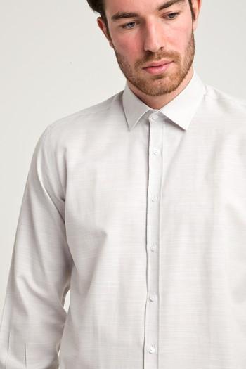 Erkek Giyim - Uzun Kol Relax Fit Desenli Gömlek