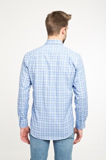 Erkek Giyim - Uzun Kol Ekose Spor Gömlek