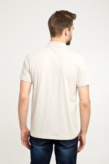 Erkek Giyim - Polo Yaka Düz Regular Fit Tişört