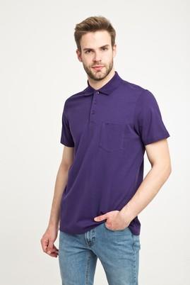 Erkek Giyim - MOR L Beden Polo Yaka Düz Regular Fit Tişört