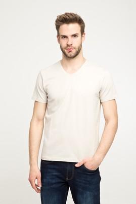 Erkek Giyim - TAŞ 3X Beden V Yaka Düz Regular Fit Tişört