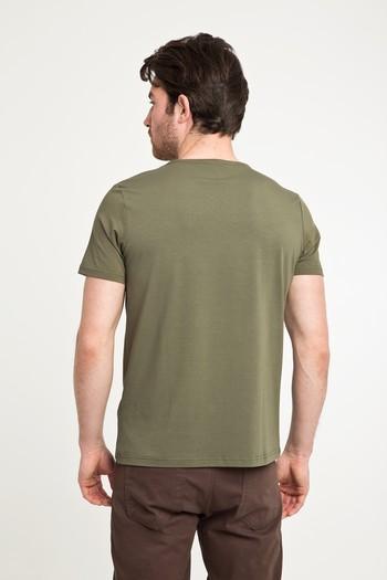 Erkek Giyim - Bisiklet Yaka Düz Regular Fit Tişört