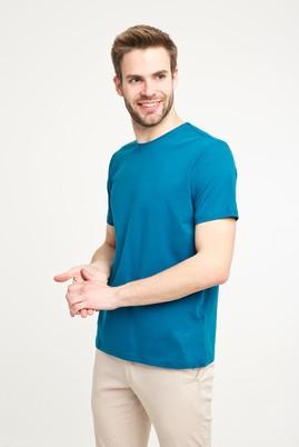 Erkek Giyim - PETROL YEŞİLİ XXL Beden Bisiklet Yaka Düz Regular Fit Tişört