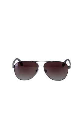 Erkek Giyim - AÇIK KAHVE  Beden UV Korumalı Metal Çerçeveli Güneş Gözlüğü