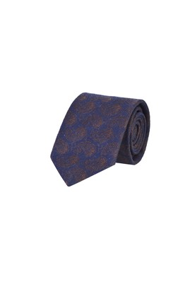 Erkek Giyim - KOYU LACİVERT  Beden Desenli Yünlü Kravat