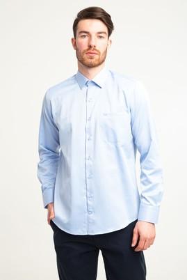 Erkek Giyim - KOYU MAVİ M Beden Uzun Kol Klasik Desenli Gömlek