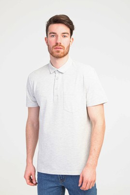 Erkek Giyim - ORTA FÜME S Beden Polo Yaka Regular Fit Tişört
