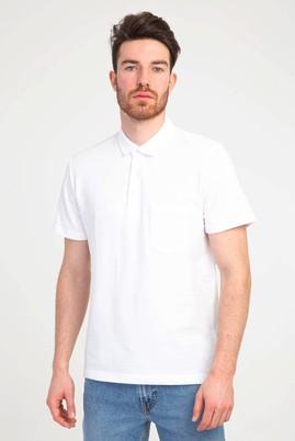 Erkek Giyim - BEYAZ S Beden Polo Yaka Regular Fit Tişört