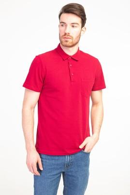 Erkek Giyim - KIRMIZI XXL Beden Polo Yaka Regular Fit Tişört