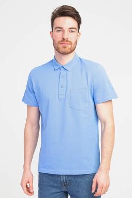 Erkek Giyim - MAVİ XL Beden Polo Yaka Regular Fit Tişört