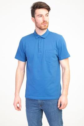 Erkek Giyim - MAVİ M Beden Polo Yaka Regular Fit Tişört
