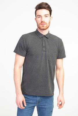 Erkek Giyim - ANTRASİT M Beden Polo Yaka Regular Fit Tişört