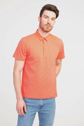 Erkek Giyim - KIRMIZI L Beden Polo Yaka Regular Fit Tişört