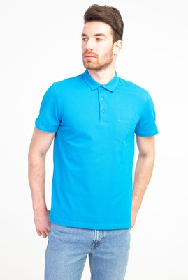 Erkek Giyim - TURKUAZ XL Beden Polo Yaka Regular Fit Tişört