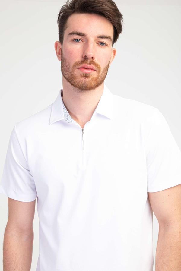Polo Yaka Fermuarlı Regular Fit Tişört
