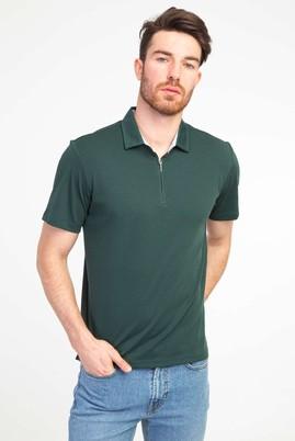 Erkek Giyim - NEFTİ L Beden Polo Yaka Fermuarlı Regular Fit Tişört