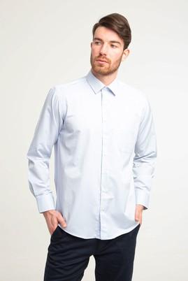 Erkek Giyim - BEYAZ XL Beden Uzun Kol Klasik Ekose Gömlek