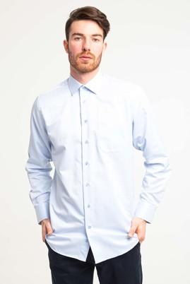 Erkek Giyim - UÇUK MAVİ L Beden Uzun Kol Klasik Desenli Gömlek
